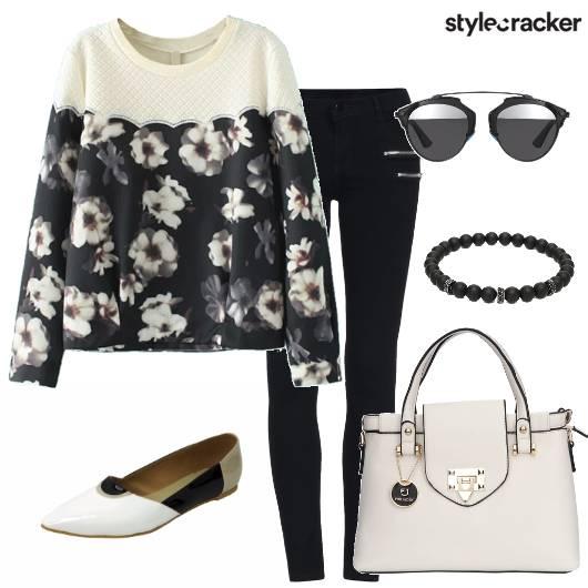 Floral SweatShirt Pants Day Work - StyleCracker