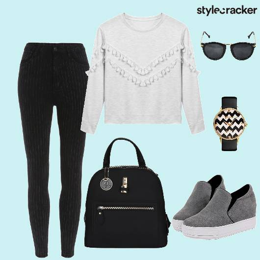 Casual Sweatshirt Backpack Sneakers - StyleCracker