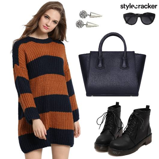 Casual SweaterDress Tote Boots  - StyleCracker