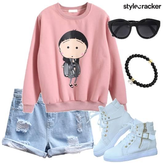 SweatShirt Short Casual College  - StyleCracker