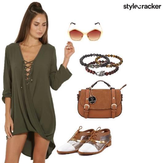 MilitaryGreen Dress Casual  - StyleCracker