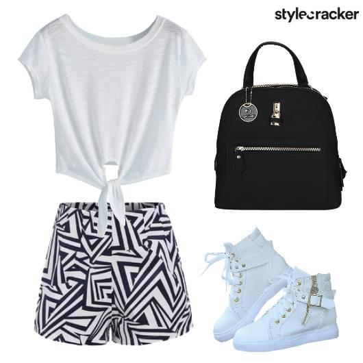 Top Shorts Printed Backpack Sneaker - StyleCracker