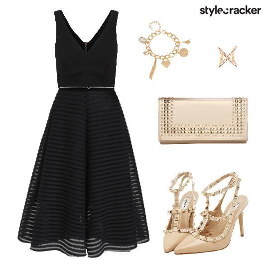 CropTop Skirt Charm Heels Clutch - StyleCracker