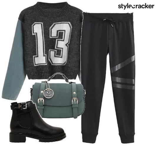 Sporty Sweatshirt BikerBoots Crossbody - StyleCracker