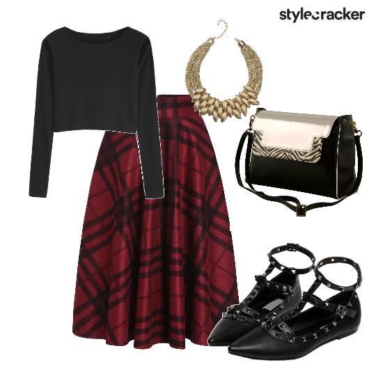 DinnerFromWork Skirt CropTop - StyleCracker