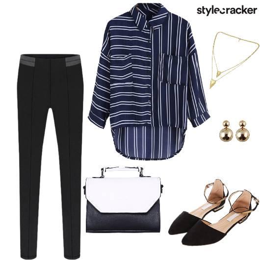 Casual Shirt Pant Bag Flats - StyleCracker