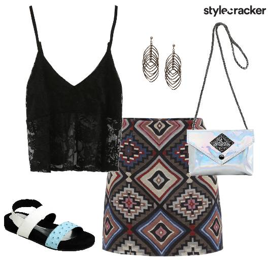 Tribal Print Skirt Casual - StyleCracker