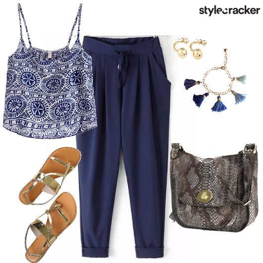 Easy Casual College Blue  - StyleCracker