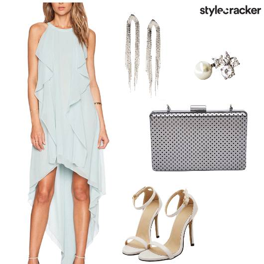 Dress Flowy HighLow Party Night  - StyleCracker