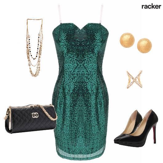 Party SequinedDress BlackandGold Bling - StyleCracker