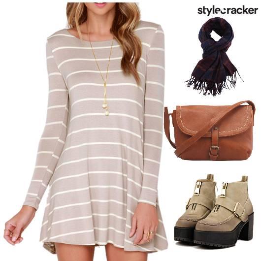 Casuals Stripes Tan Boots - StyleCracker