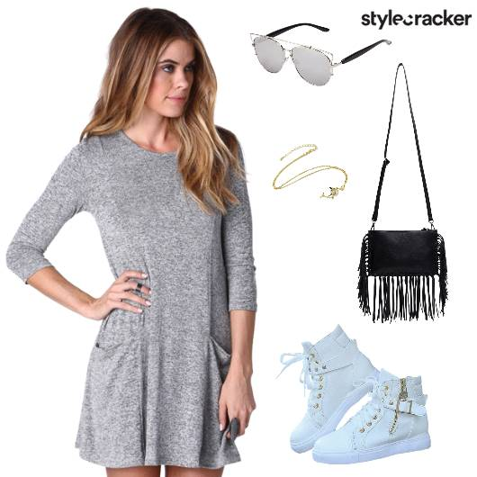 Chilling Casual Grey Sneakers - StyleCracker