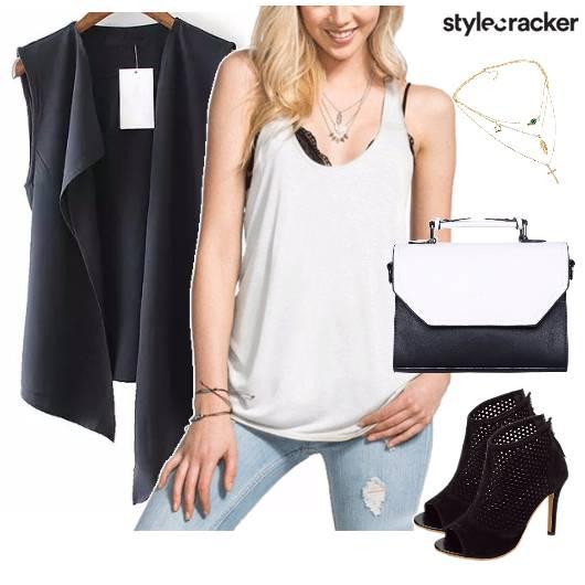 StreetStyle Basics WhiteTankTop Denims - StyleCracker