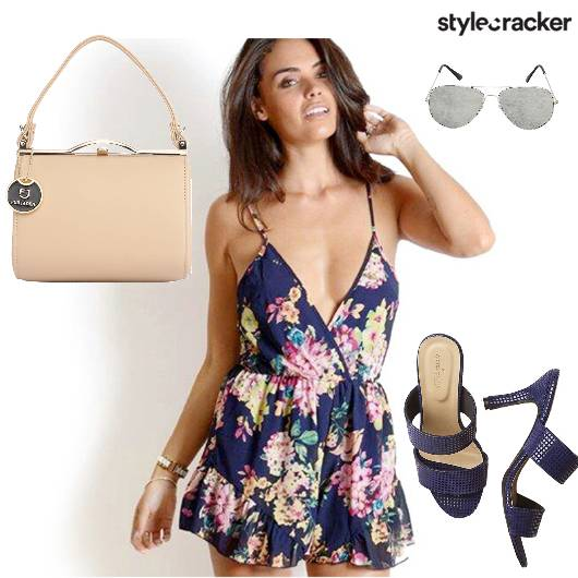 Bag Jumpsuit Heels Sunglasses - StyleCracker