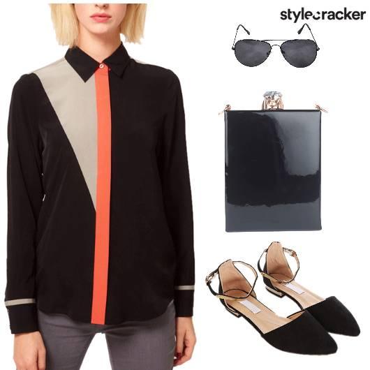 Shirt Pant PointyToe Flats - StyleCracker