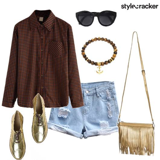Shirt Check Plaid ShoesSling  - StyleCracker