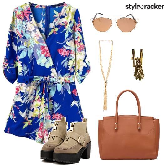 Jumpsuit Floral Morning Lunch Date - StyleCracker