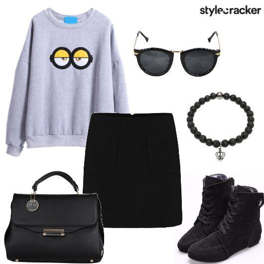 SweatShirt Skirt Shoes  Winter - StyleCracker