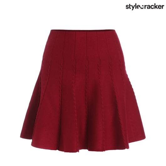 SCLOVES RED MAROON SKIRTS - StyleCracker