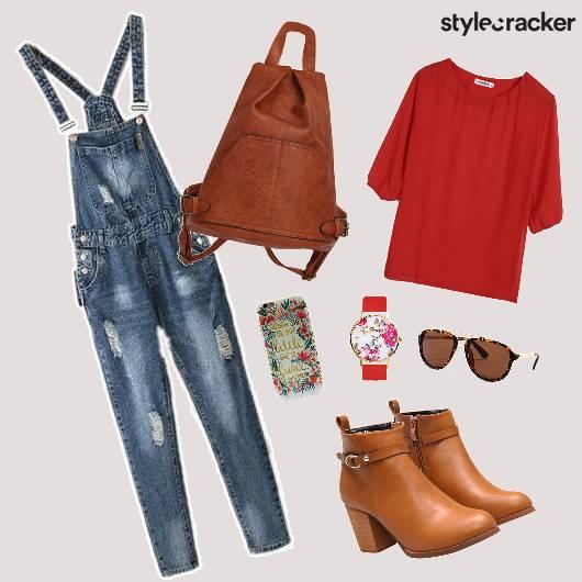 Overalls Denim Layer Shoes Bag - StyleCracker
