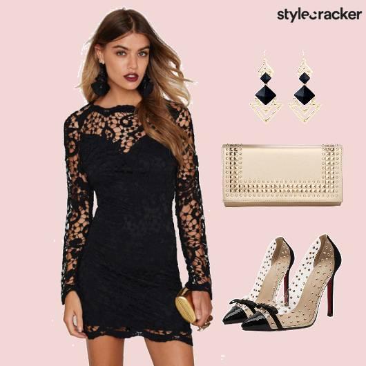 Dress Lace Clutch Shoes  - StyleCracker