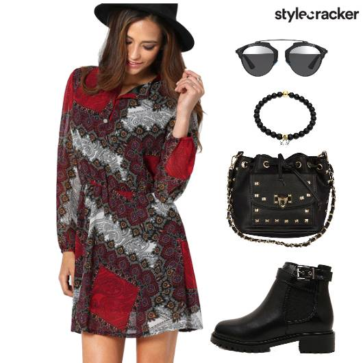 Dress Print Shoes Bag  - StyleCracker