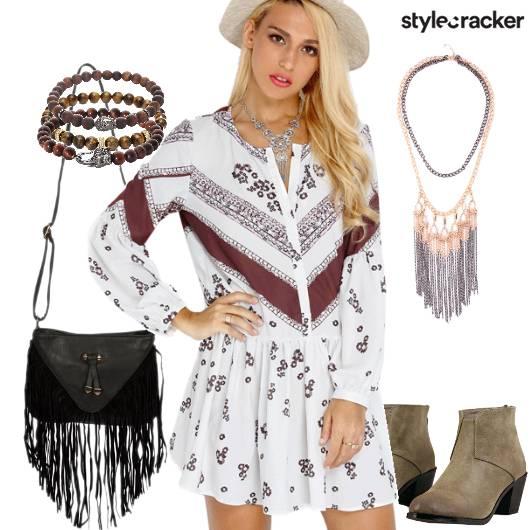 Bohemian Casual Everyday Printed Dress - StyleCracker