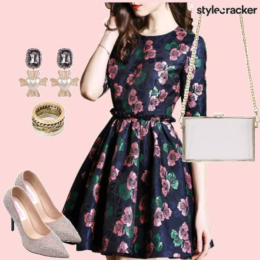 Pretty Floral Dress  - StyleCracker