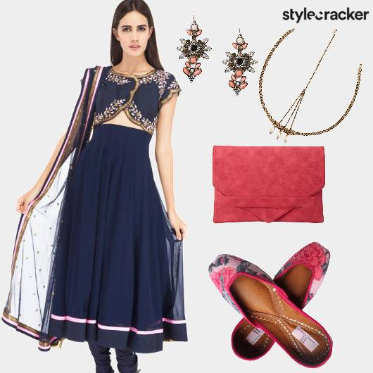 Festive Indian Anarkali Headgear  - StyleCracker
