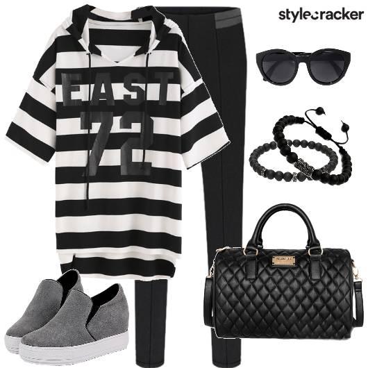 Stripe Hoodie Pants Casual Winter - StyleCracker