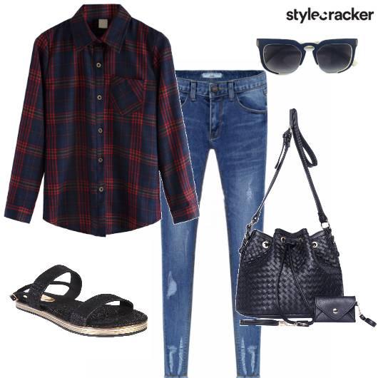 Shirt Plaid Jeans Casual Day - StyleCracker