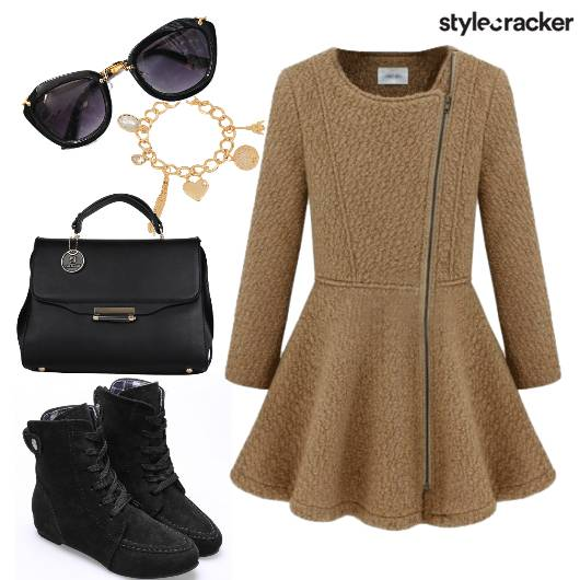 Knit Zipper Dress Coat  - StyleCracker