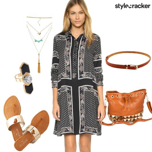 GypsyInspired Casual ShirtDress - StyleCracker