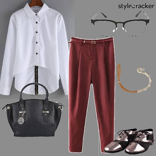 Formal WorkWear Shirt Pants Spectacles  - StyleCracker