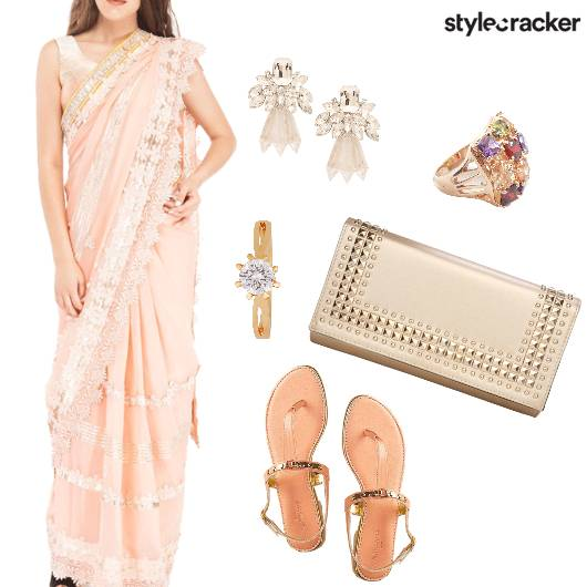 Saree Festive Wedding Evening Indian Ethnic - StyleCracker