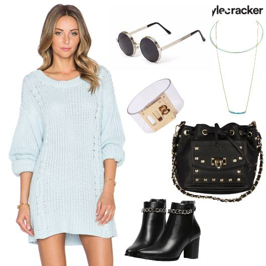 KnitDress WinterFashion Travel DayNight Casual - StyleCracker