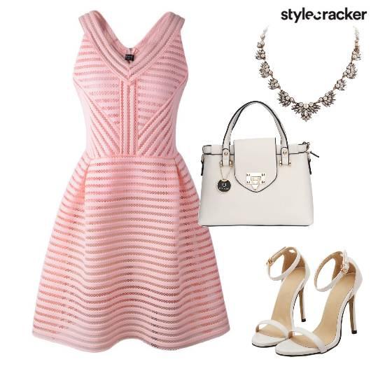 Pastel Brunch Dress StatementNecklace  - StyleCracker