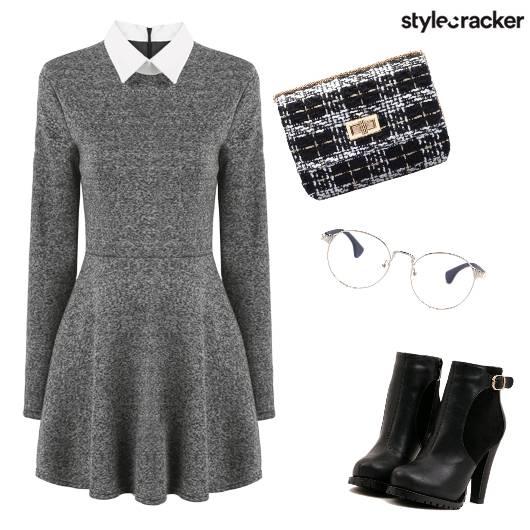 Boots Casual SkaterDress  - StyleCracker