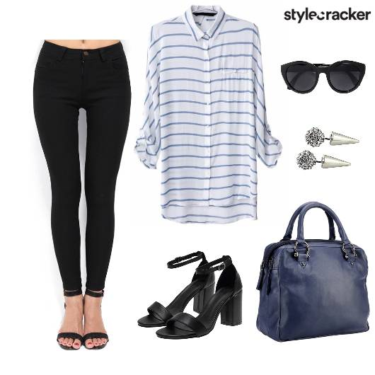 Casual LunchwiththeLadies BlackandBlue - StyleCracker