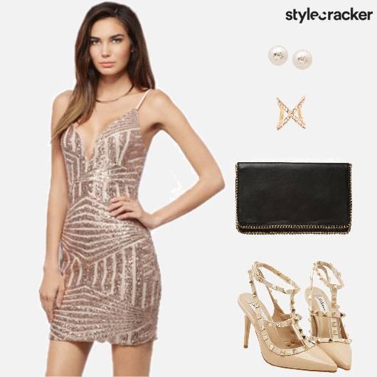 PartyWear SequinnedDress  - StyleCracker