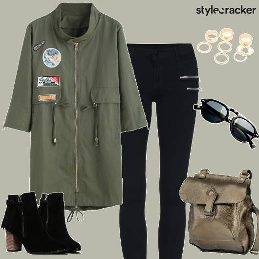 Military DrawstringCoat  - StyleCracker