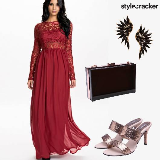 Gown Party BoxClutch  - StyleCracker
