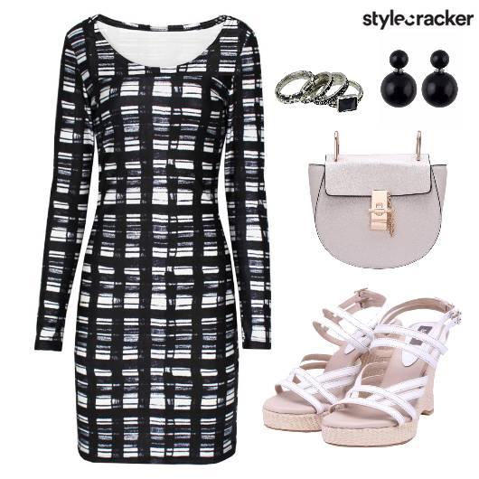 Dress Bodycon Monochrome - StyleCracker