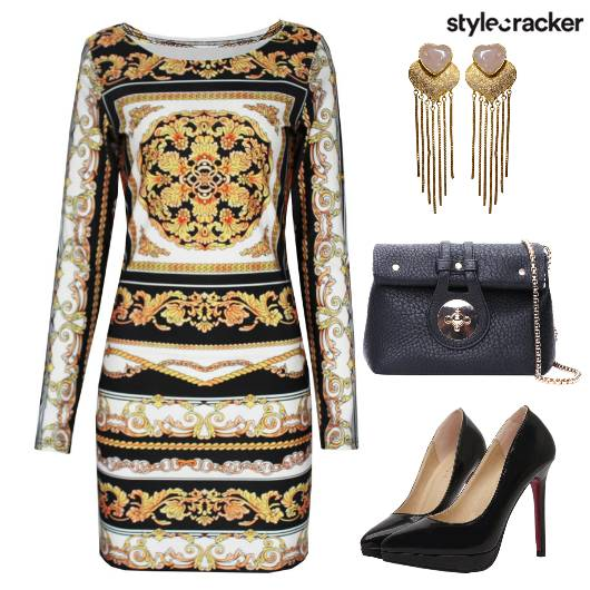 BodyCon Printed Pumps SlingBag  - StyleCracker