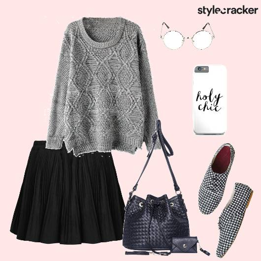 Sweater Skaterskirt Oxfords Bucketbag Backtoschool Casual - StyleCracker
