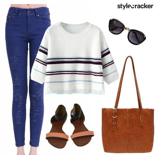 Pants Stripes College - StyleCracker