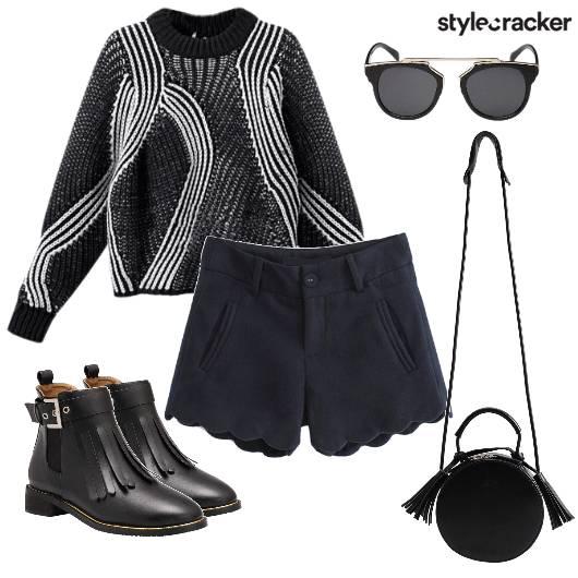 Sweater Top  Winter Boots - StyleCracker