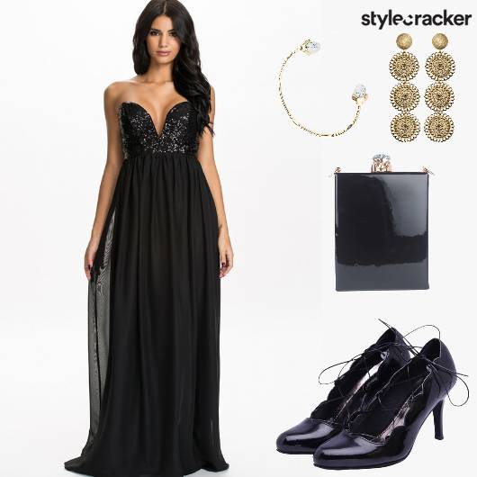 CocktailParty Sequinned Gown BoxClutch  - StyleCracker