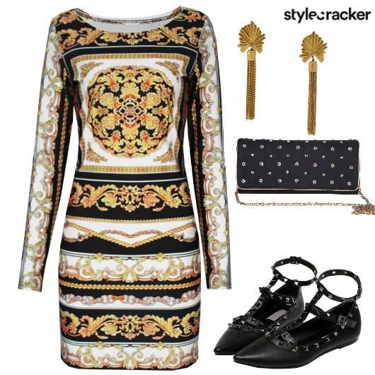 BodyCon Prints StuddedShoes - StyleCracker