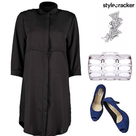 ShirtDress StuddedEarCuff Party - StyleCracker